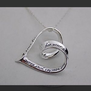 """Jewelry - Engraved Heart Sterling Silver Friend 18"""" Necklace"""